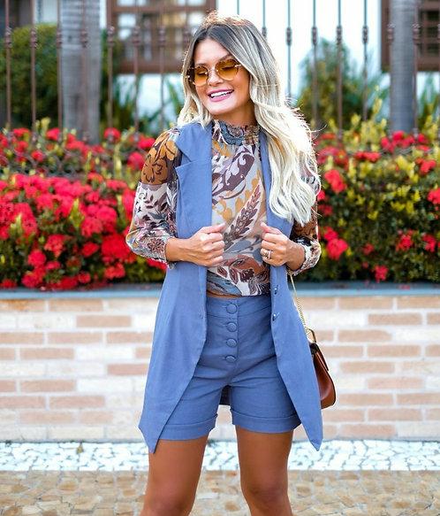 Shorts Estilo Azul Papaya Ref 10907
