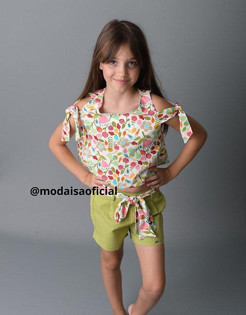 Conjunto Shorts e Blusa Bali  Zaamer Ref G0194
