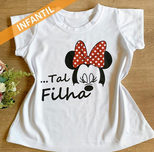 T-Shirt Mãe e Filha Minie Modaisa