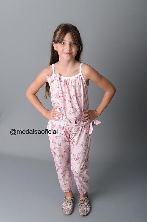 Macacão Ursinho Rosa YoLoveYo Ref 20900