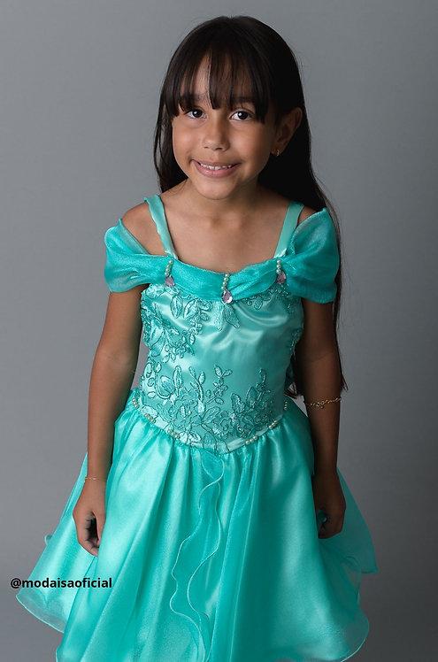 Vestido Verde Jasmine Magia Colorida Ref 81842