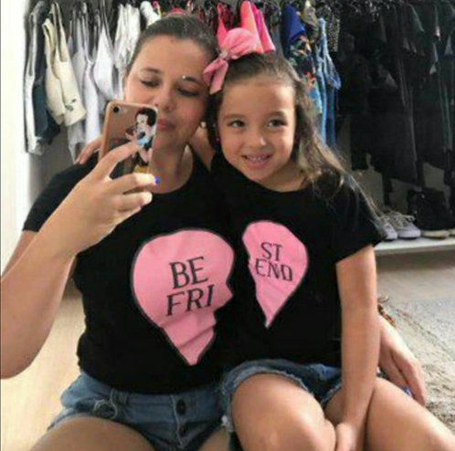 Camiseta Mãe e Filha Best Friend
