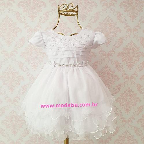 Vestido Menina Bonita Branco Gelo Cod 18532