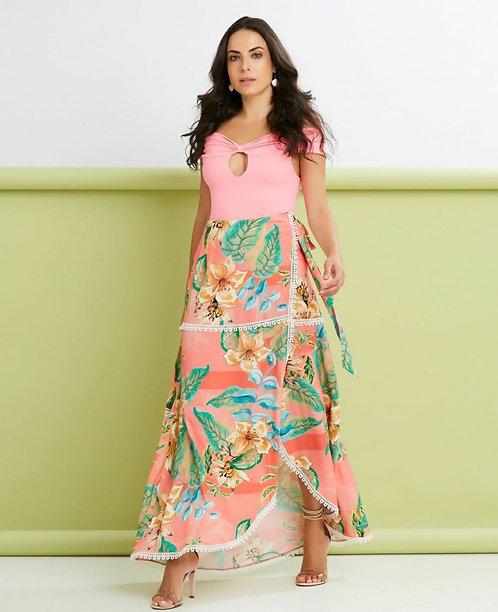 Body Ombro a Ombro Rosa Papaya Ref 10743