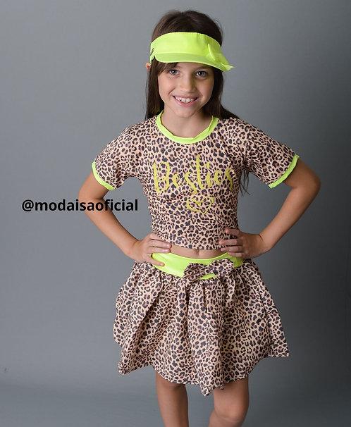 Camiseta Neon Oncinha Besties Yoloveyo Ref 20953