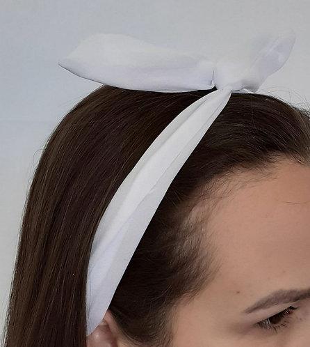 Faixa Com Arame Infantil Branco ModaIsa Ref 0041