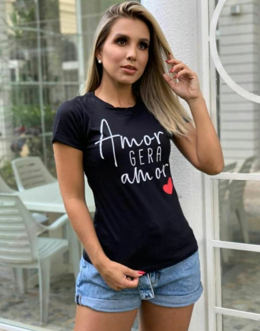 T Shirt Amor Gera Amor Modaisa Ref 990777