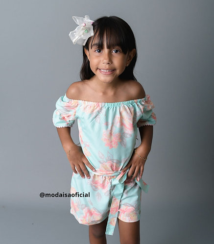 Macaquinho Floral Miss Doll Ref 50712