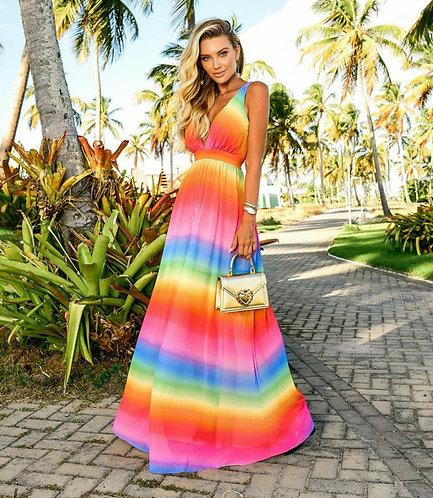 Vestido Tule Color