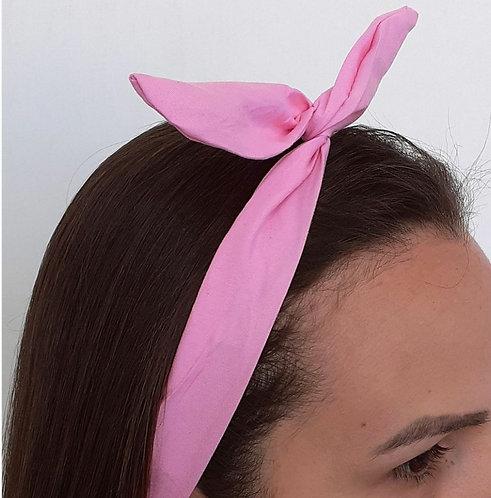 Faixa Com Arame Infantil Rosa ModaIsa Ref 0035
