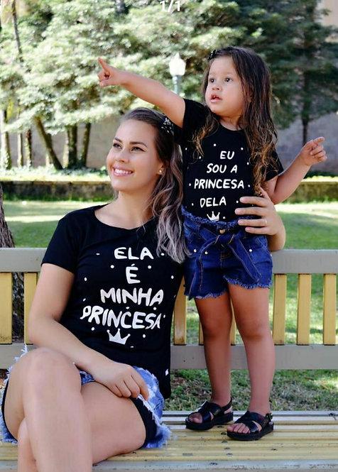 Camiseta Mãe e Filha Princesa Dela