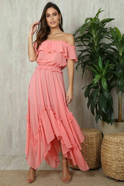 Vestido Chifon Princesa Ref Ave 0444
