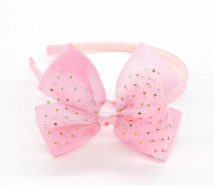 Tiara Infantil Rosa Claro ModaIsa Ref 365