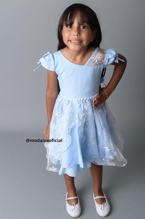 Vestido Azul Elsa Frozen Lig Lig Ref 629