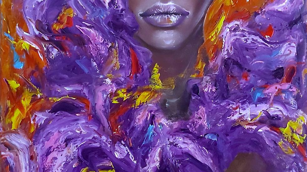 """portrait painting """"Saitpaulia"""""""