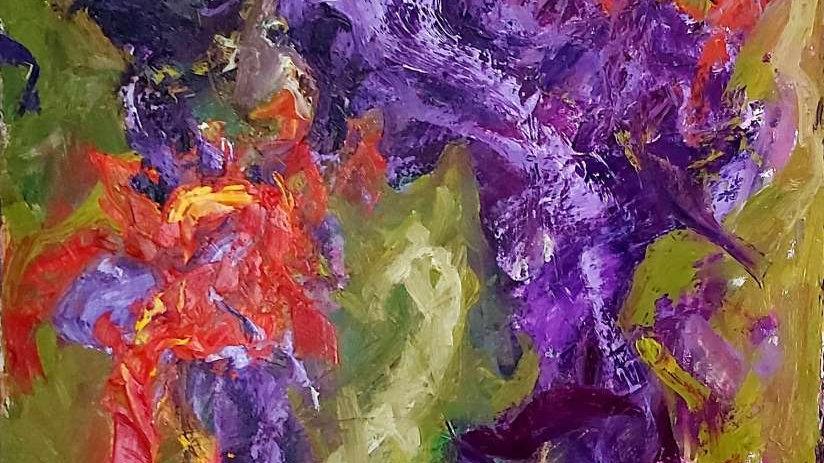 "abstract painting ""Irisis"""
