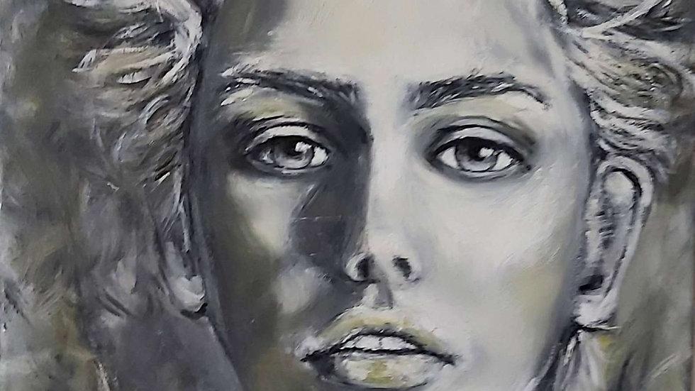 "portrait painting ""Wild Angel"""