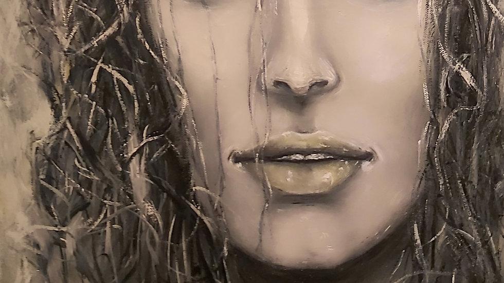 """portrait painting """"Believe me"""""""