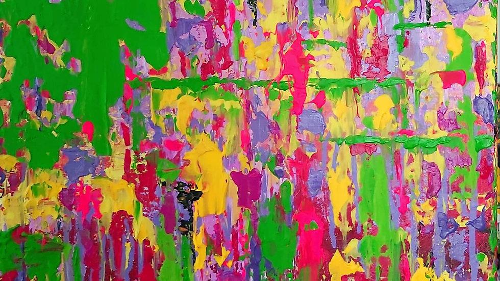 "abstract painting ""Awakening"""