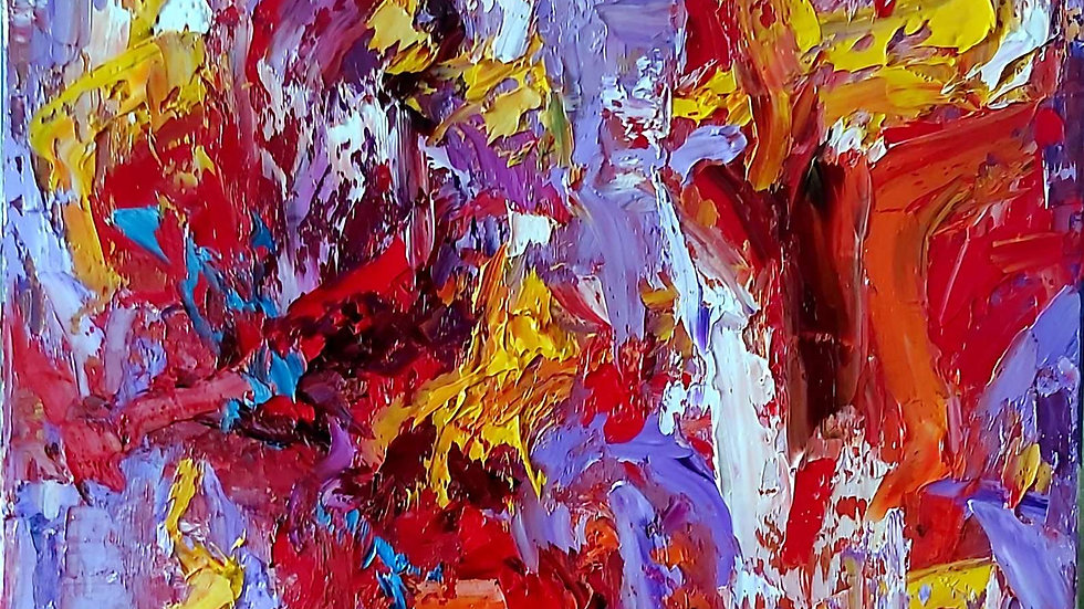 """abstract painting """"Illusion of passion"""""""