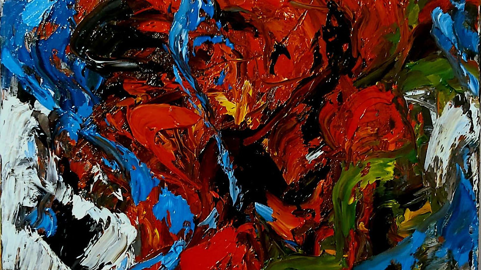 """abstract painting """"Soul dance"""""""