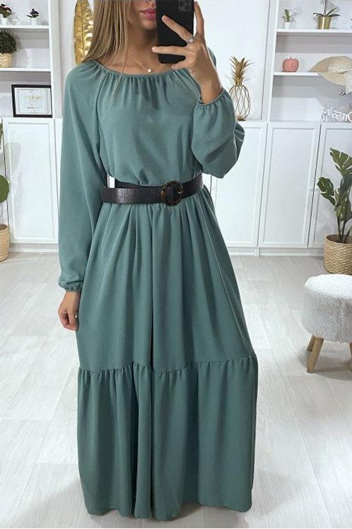 "Robe Longue Verte "" BOOMY"""