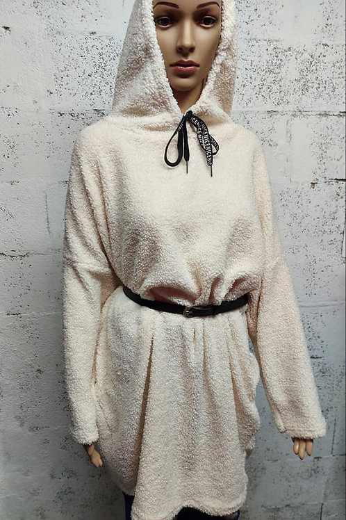 "Robe Pull ""DOUCEUR"" Blanc Cassé"