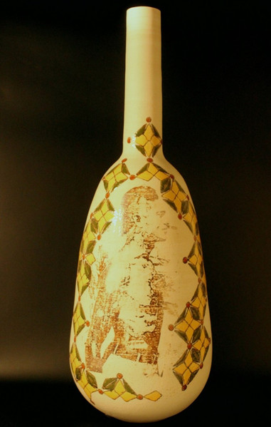 Wheel thrown stoneware | ceramic lithography | 67x24 cm