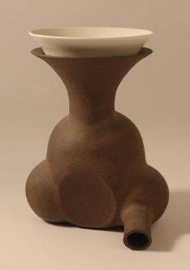 Wheel thrown & sculpted stoneware & porcelain | 29x22x17 cm