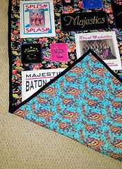 Custom Majestic Baton Quilt Reverse Side