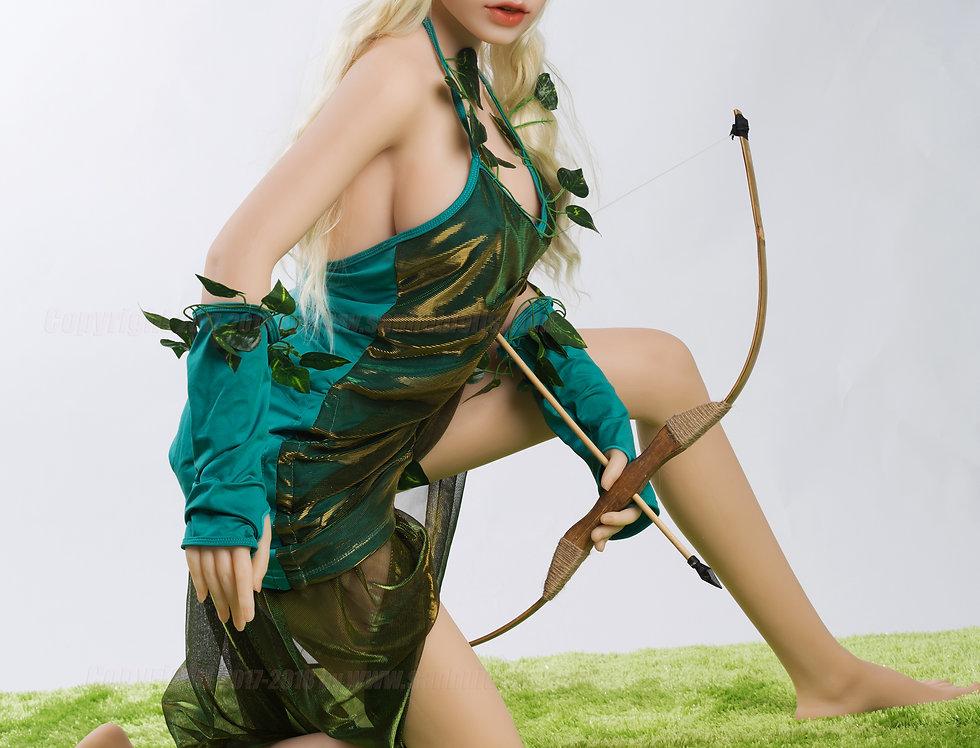 Sanhui elven silicone love doll Lorelei kneeling for hunting