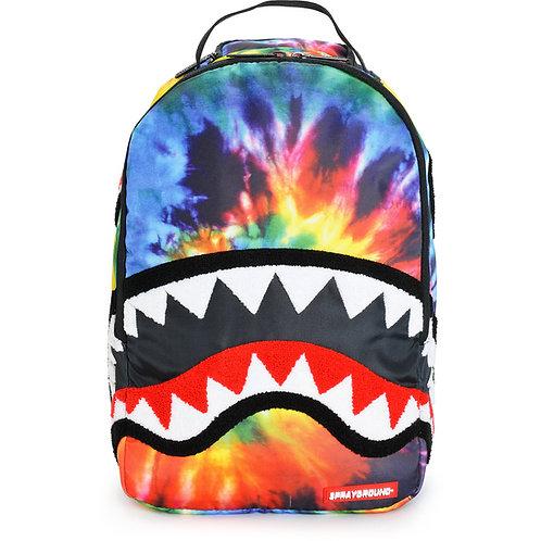 Tie Dye CHenille Shark Backpack