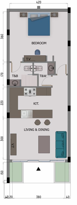 1 Bedroom Apartment (384x1024)