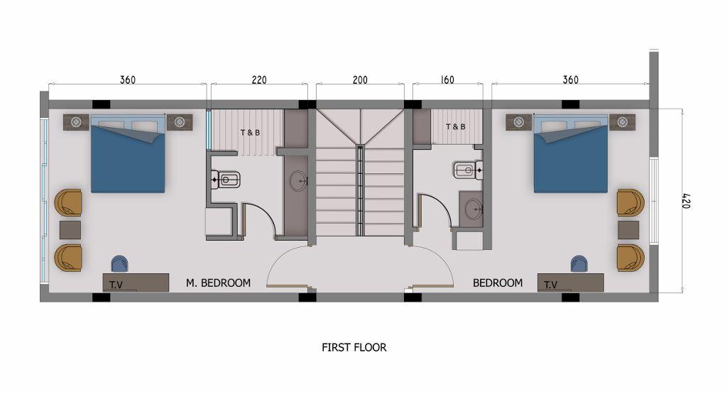 3 Bedroom Villa-  1st Floor