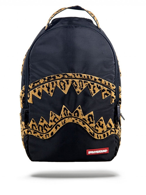 Leopard Chenille Backpack