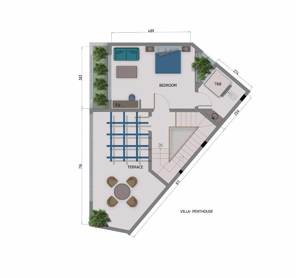 4 Bedroom Villa - Penthouse