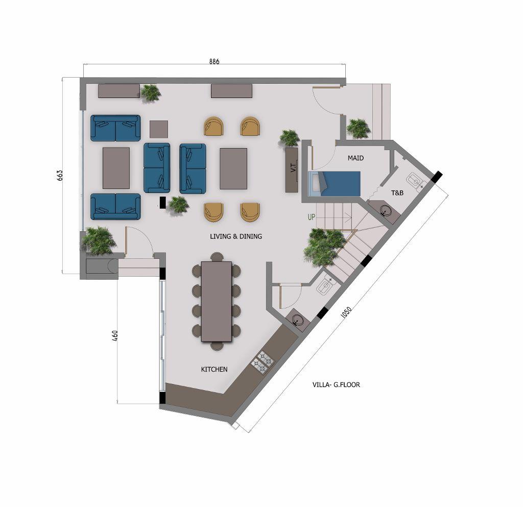 4 Bedroom Villa - Ground Floor