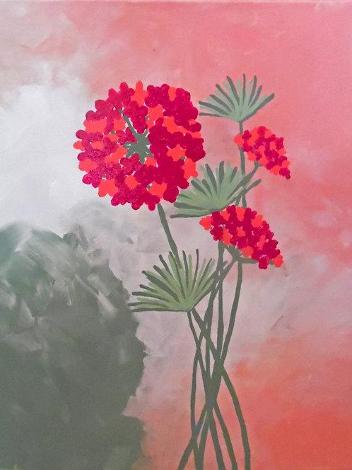 Soft Pink Hydrangea with Sage