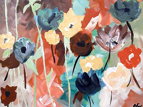 Muted Floral Abstraction