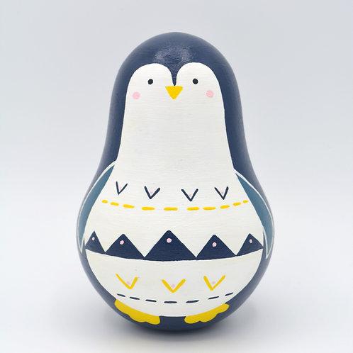 "Wooden Tinkling Tumbler ""Penguin"""