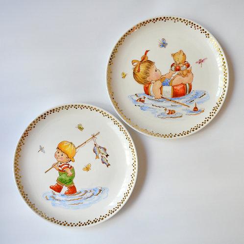 """Fine Porcelain Plate """"Pisces"""""""