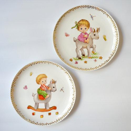 "Fine Porcelain Plate ""Capricorn"""