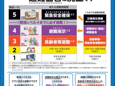 【消防庁】新たな非難情報に関するポスター