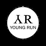 logo young run white black