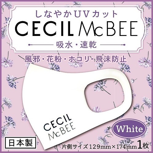 CECIL McBEE 文字のみホワイト 布マスク1枚