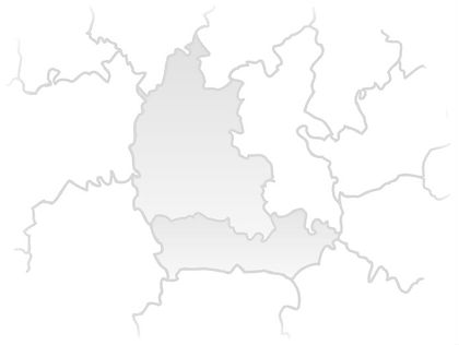 Outline map of Berkshire & Oxfordshire