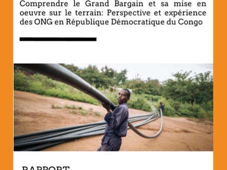 Rapport de l'atelier Grand Bargain en RDC