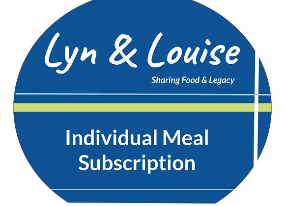 Subscription Individual 4-week Meal Plan     STARTING AT: