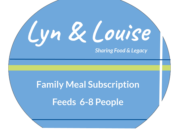 Subscription Family Meal Plan 6-8 People     STARTING AT: