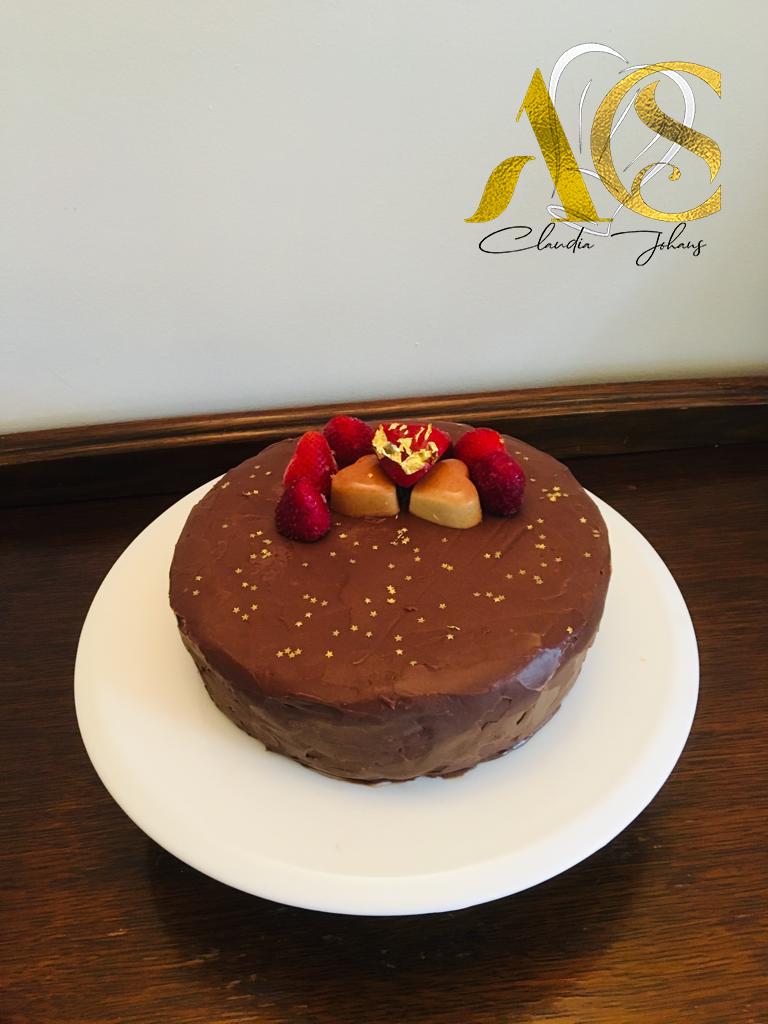 Chocolate gold cheesecake